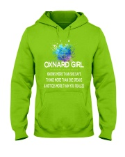 Oxnard girl knows more than Hooded Sweatshirt front