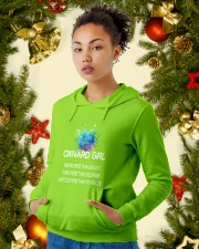 Oxnard girl knows more than Hooded Sweatshirt lifestyle-holiday-hoodie-front-4