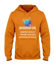 Henderson girl knows more than Hooded Sweatshirt front