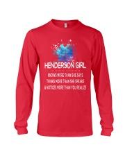 Henderson girl knows more than Long Sleeve Tee thumbnail