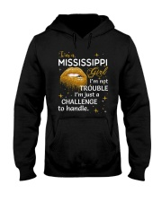 Mississippi girl im not trouble Hooded Sweatshirt thumbnail