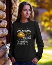 Oklahoma girl im not trouble Crewneck Sweatshirt lifestyle-unisex-sweatshirt-front-7