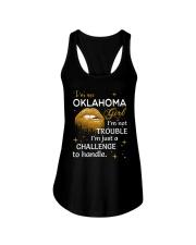 Oklahoma girl im not trouble Ladies Flowy Tank thumbnail