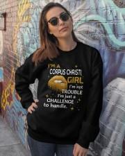 Corpus Christi girl im not trouble Crewneck Sweatshirt lifestyle-unisex-sweatshirt-front-3
