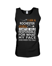 Rochester girl  i cant be held for Unisex Tank thumbnail