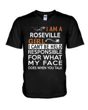 Roseville girl  i cant be held for V-Neck T-Shirt thumbnail