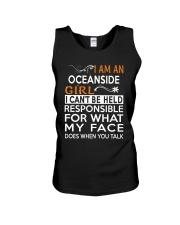 Oceanside girl  i cant be held for Unisex Tank thumbnail