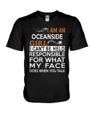 Oceanside girl  i cant be held for V-Neck T-Shirt thumbnail
