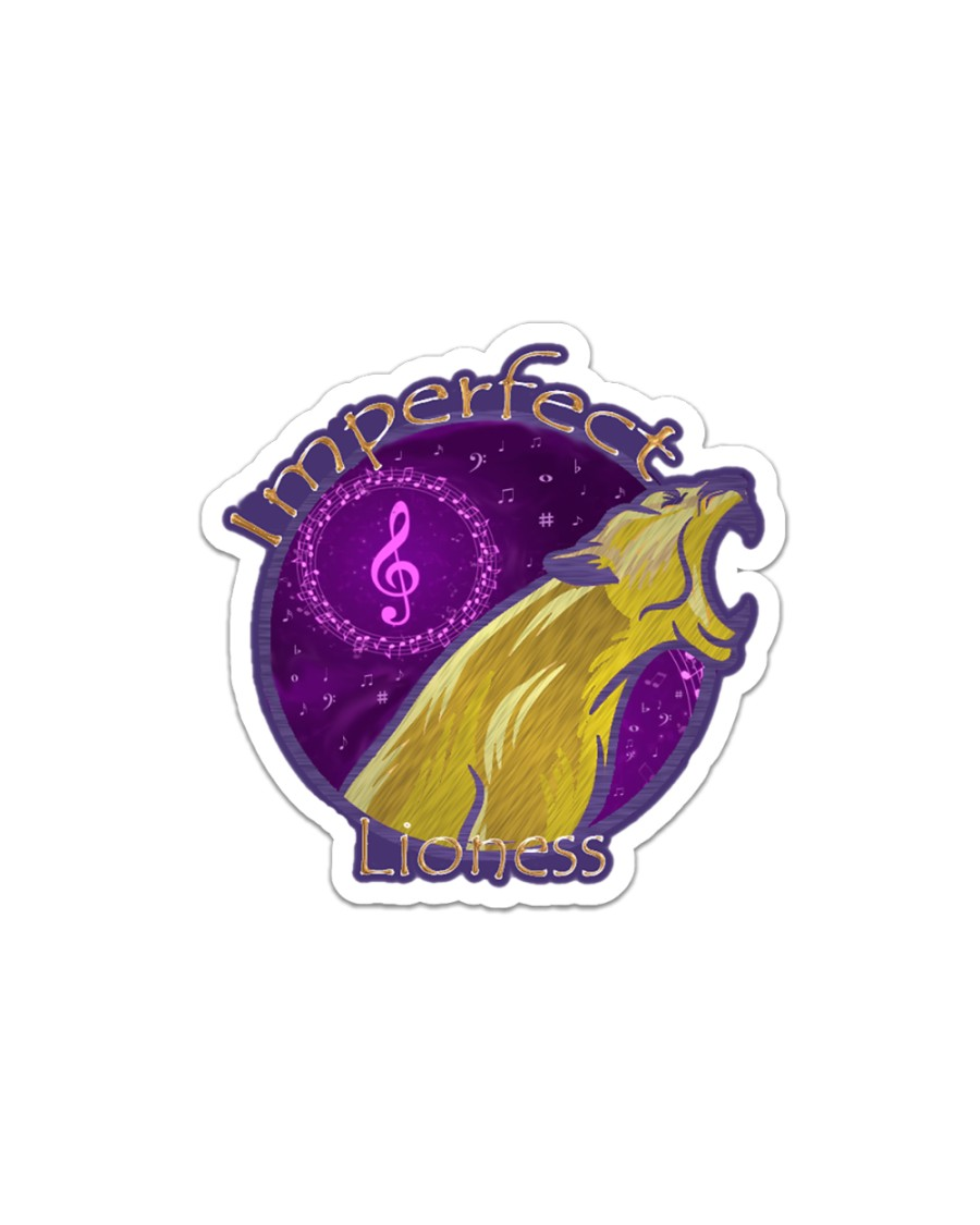 Imperfect Lioness Logo 2020 Sticker - Single (Horizontal)