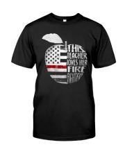This Teacher Loves Her Firefighter Shirt Premium Fit Mens Tee thumbnail