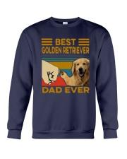 Vintage Best Golden Retriever Dad Ever Shirt Crewneck Sweatshirt thumbnail