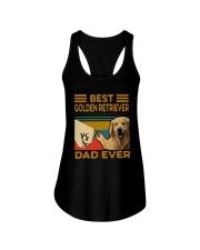Vintage Best Golden Retriever Dad Ever Shirt Ladies Flowy Tank thumbnail