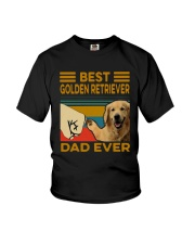 Vintage Best Golden Retriever Dad Ever Shirt Youth T-Shirt thumbnail