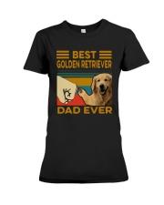Vintage Best Golden Retriever Dad Ever Shirt Premium Fit Ladies Tee thumbnail