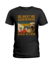 Vintage Best Golden Retriever Dad Ever Shirt Ladies T-Shirt thumbnail