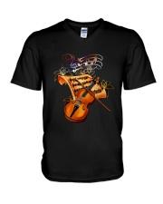 Violin Sheet Shirt V-Neck T-Shirt thumbnail