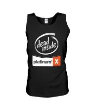 Dead Inside Platinum Shirt Unisex Tank thumbnail