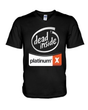 Dead Inside Platinum Shirt V-Neck T-Shirt thumbnail