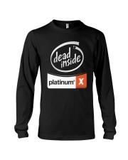 Dead Inside Platinum Shirt Long Sleeve Tee thumbnail