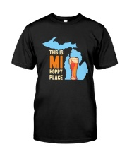 Beer This Is Mi Hoppy Place Shirt Classic T-Shirt front