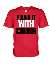 Pound It With Chubb Shirt V-Neck T-Shirt tile