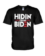 Hidin From Biden Shirt V-Neck T-Shirt thumbnail