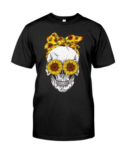 Skull Sunflower Eyes Shirt