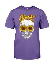 Skull Sunflower Eyes Shirt Premium Fit Mens Tee thumbnail