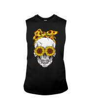 Skull Sunflower Eyes Shirt Sleeveless Tee thumbnail