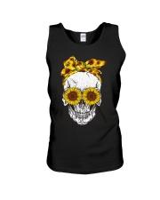 Skull Sunflower Eyes Shirt Unisex Tank thumbnail