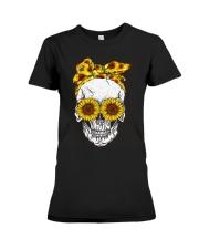 Skull Sunflower Eyes Shirt Premium Fit Ladies Tee thumbnail