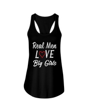 Real Men Love Big Girls Shirt Ladies Flowy Tank thumbnail