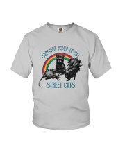 Raccoon Support Your Local Street Cats Shirt Youth T-Shirt thumbnail