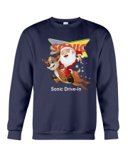 Santa Claus Riding Deeer Sonic Drive In Shirt Crewneck Sweatshirt tile