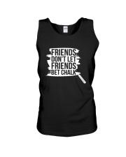Friends Don't Let Friends Bet Chalk Shirt Unisex Tank thumbnail
