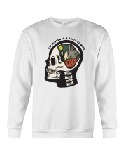 Skull Halloween Is A State Of Mind Shirt Crewneck Sweatshirt thumbnail