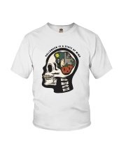Skull Halloween Is A State Of Mind Shirt Youth T-Shirt thumbnail
