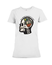 Skull Halloween Is A State Of Mind Shirt Premium Fit Ladies Tee thumbnail