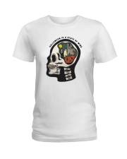 Skull Halloween Is A State Of Mind Shirt Ladies T-Shirt tile