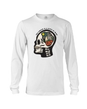 Skull Halloween Is A State Of Mind Shirt Long Sleeve Tee tile