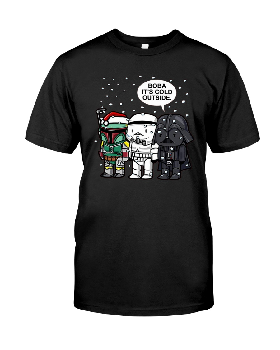 Christmas Darth Vader Boba Its Cold Outside Shirt Classic T-Shirt
