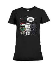 Christmas Darth Vader Boba Its Cold Outside Shirt Premium Fit Ladies Tee thumbnail