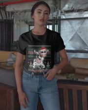 Christmas Dabbing Santa Cow Shirt Classic T-Shirt apparel-classic-tshirt-lifestyle-05