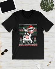 Christmas Dabbing Santa Cow Shirt Classic T-Shirt lifestyle-mens-crewneck-front-17