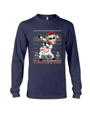 Christmas Dabbing Santa Cow Shirt Long Sleeve Tee thumbnail