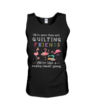 Flamingo We're More Than Just Quilting Friends Tee Unisex Tank thumbnail
