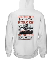 Bus Driver Fighting The Forces Of Stupid Shirt Hooded Sweatshirt thumbnail