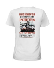 Bus Driver Fighting The Forces Of Stupid Shirt Ladies T-Shirt thumbnail