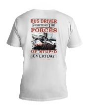 Bus Driver Fighting The Forces Of Stupid Shirt V-Neck T-Shirt thumbnail