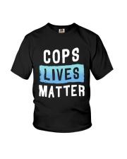 Cops Lives Matter Shirt Youth T-Shirt thumbnail